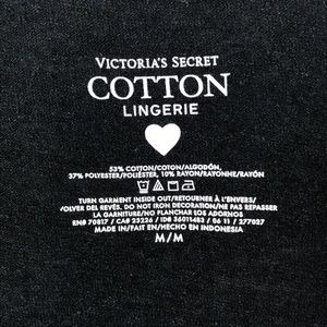 "Victoria's Secret Tops - Victoria's Secret Black Burnout ""Gorgeous"" T-Shirt"